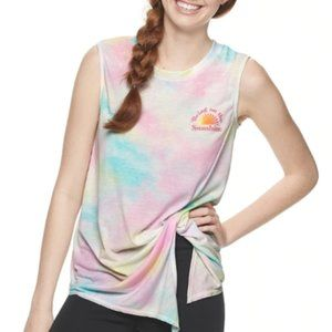 """TIE-DYE PERFECT TEE """"BRING ON THE SUNSHINE"""" TOP XS"""